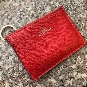 Coach Mini Skinny ID Case - Red